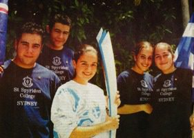 2000 Sydney Olympic torch relay team in Greece